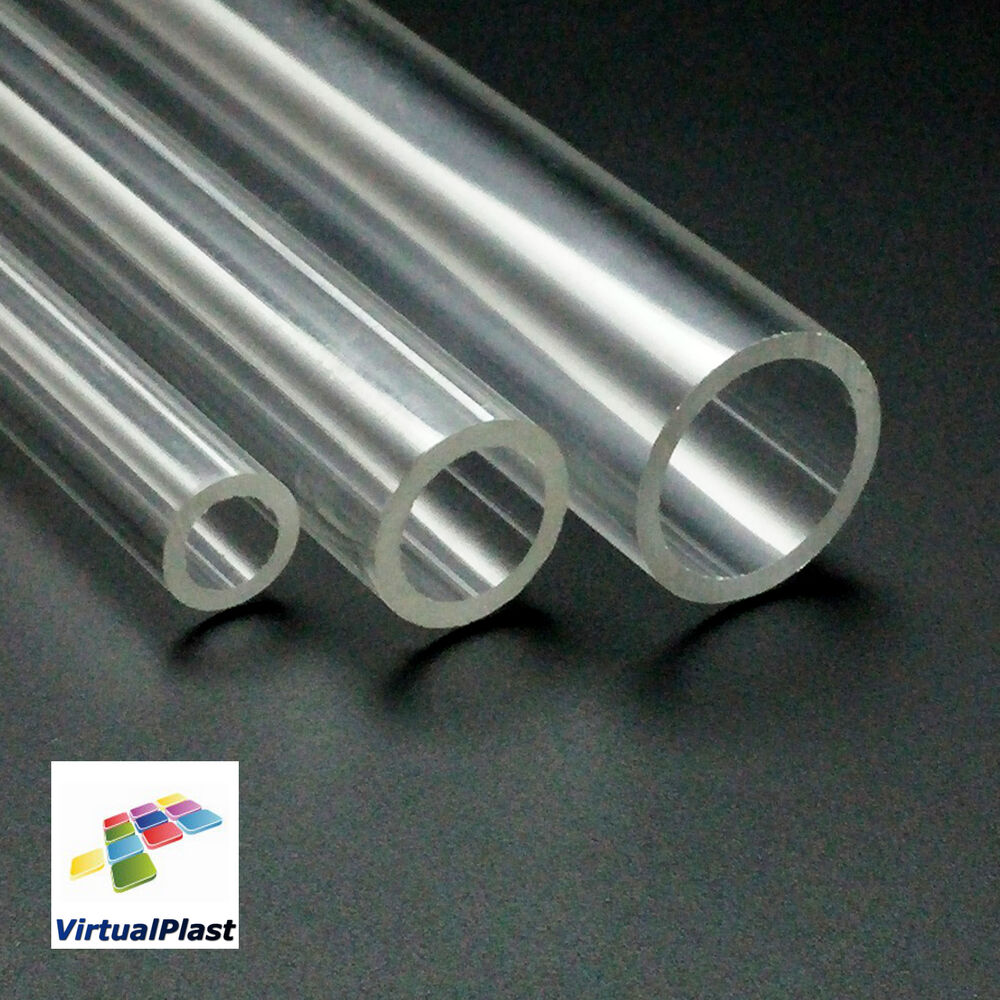 plexiglass tube 20mm 15mm 8mm clear acrylic perspex plastic choose length ebay. Black Bedroom Furniture Sets. Home Design Ideas