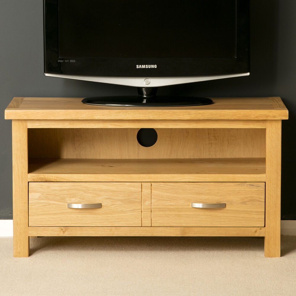 london oak small tv stand light oak tv unit solid wood. Black Bedroom Furniture Sets. Home Design Ideas