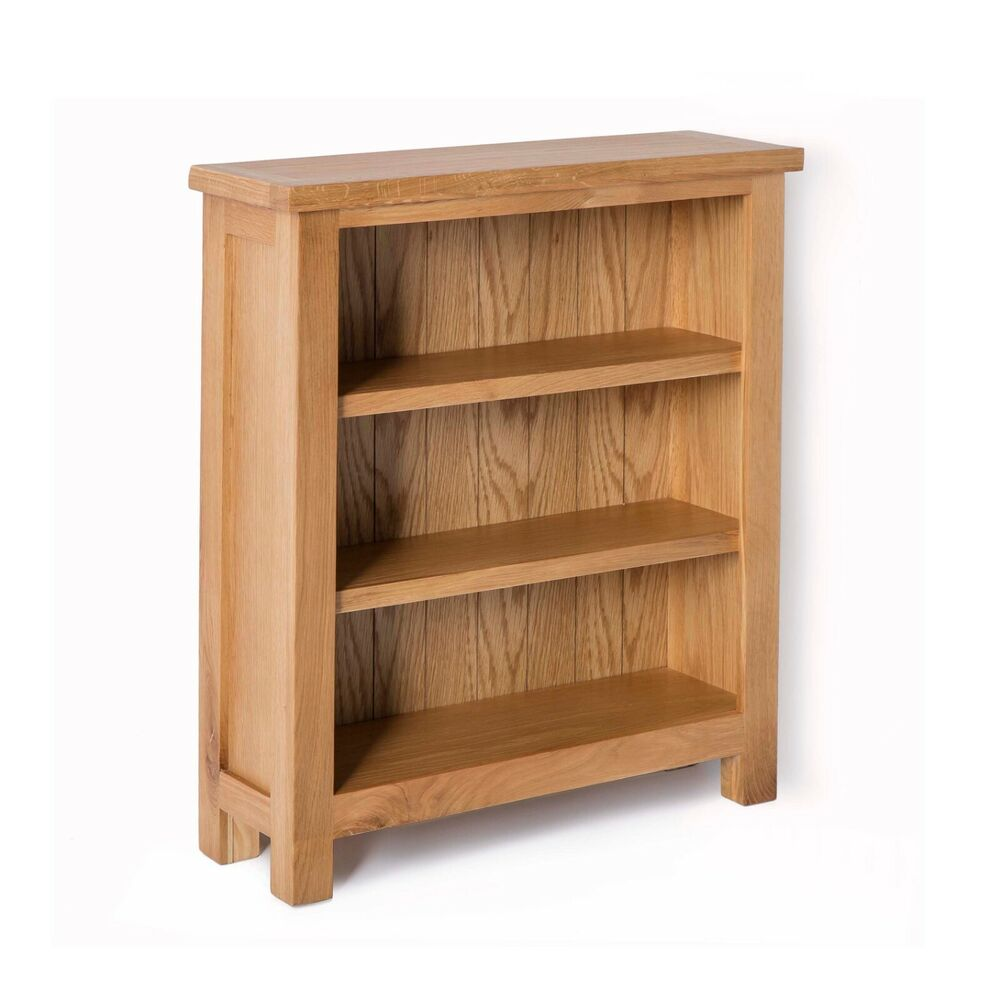 London Oak Small Bookcase Light Oak Low Bookcase Solid