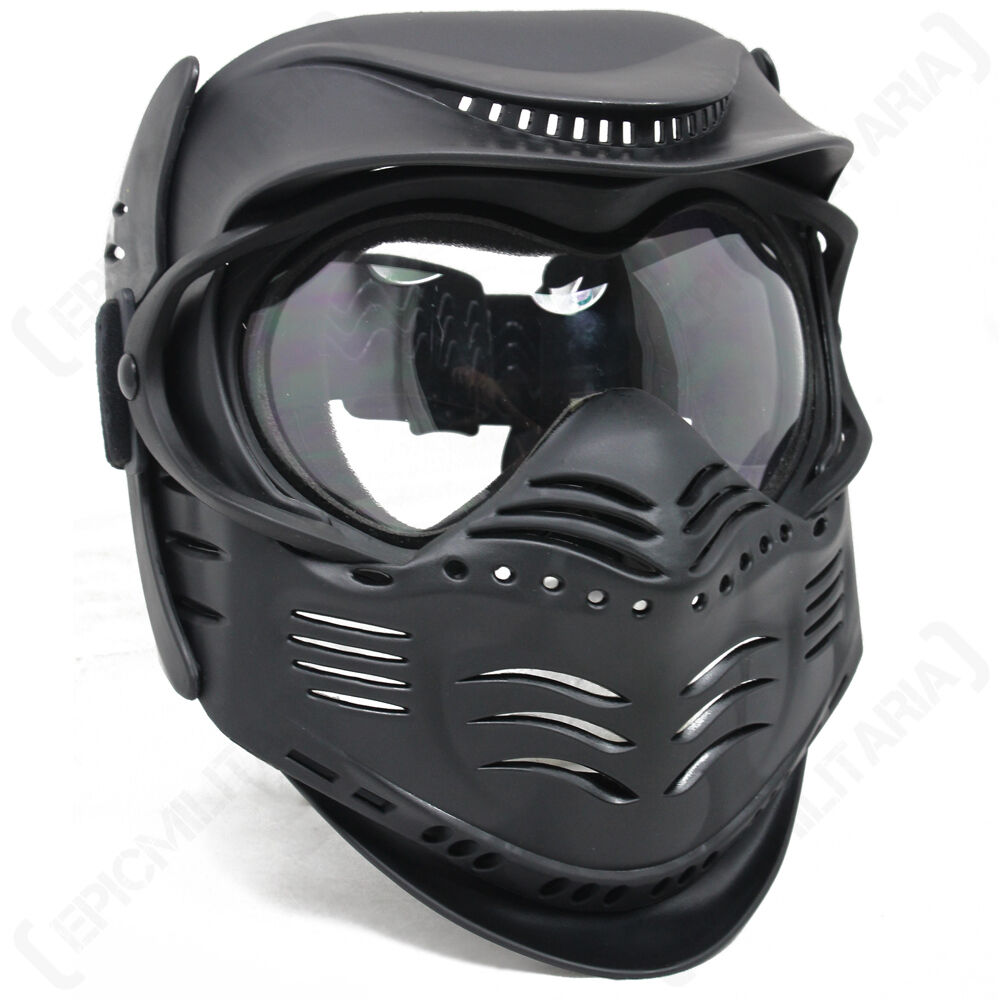 Black PAINTBALL MASK- Airsoft Full Face Protection With ... Paintball Gear And Protection