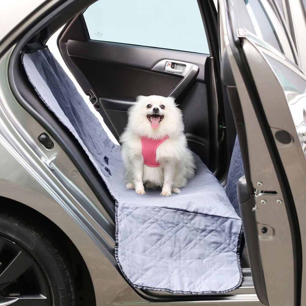 Pet Dog Back Seat Cover Waterproof Suv Truck Van Car Gray