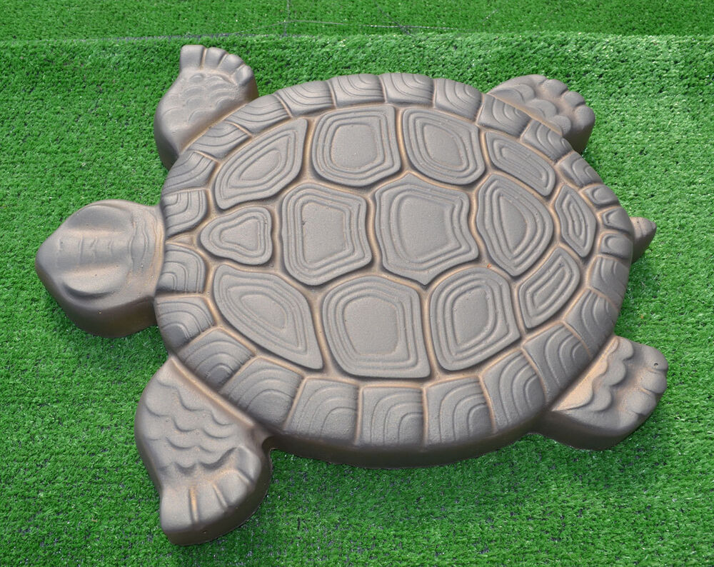 Turtle stepping stone mold concrete cement mould abs for Concrete craft molds