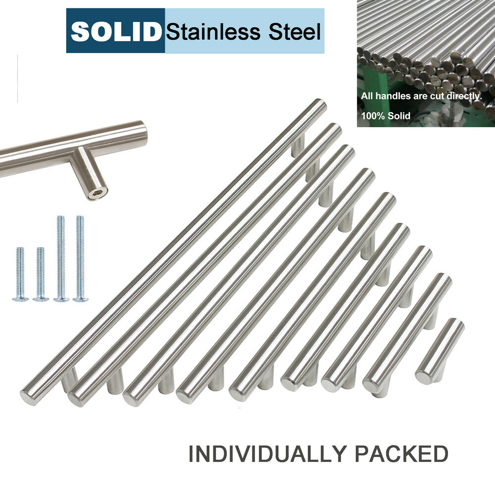 Modern Solid Stainless Steel Kitchen Cabinet Drawer Pulls