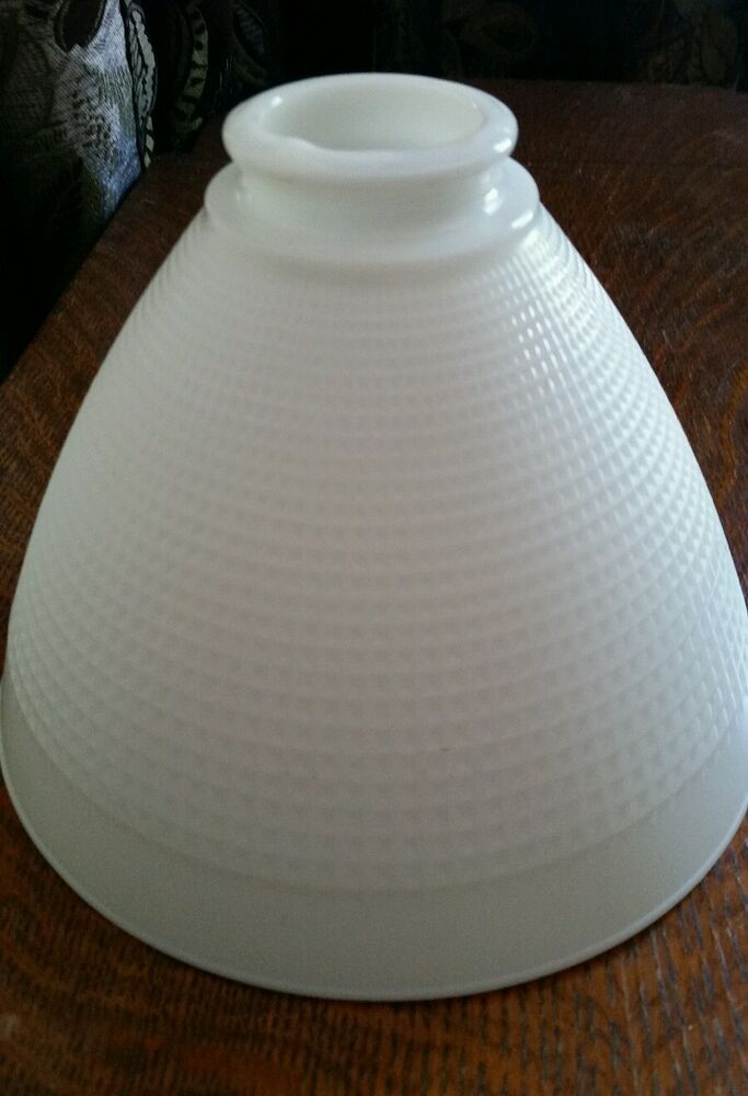 Vintage White Milk Glass Floor Lamp Diffuser Torchiere