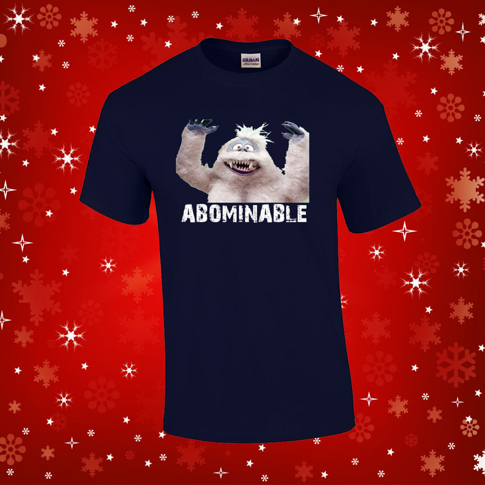 Abominable snowman t shirt rudolph holiday christmas tee for Abominable snowman christmas light decoration