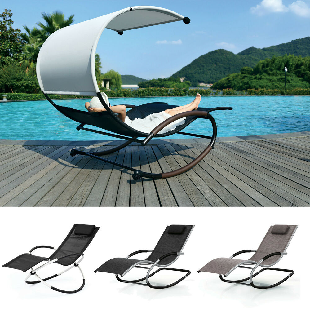 luxury sun lounger bed outdoor garden patio rocking chairs twin chair loungers ebay. Black Bedroom Furniture Sets. Home Design Ideas