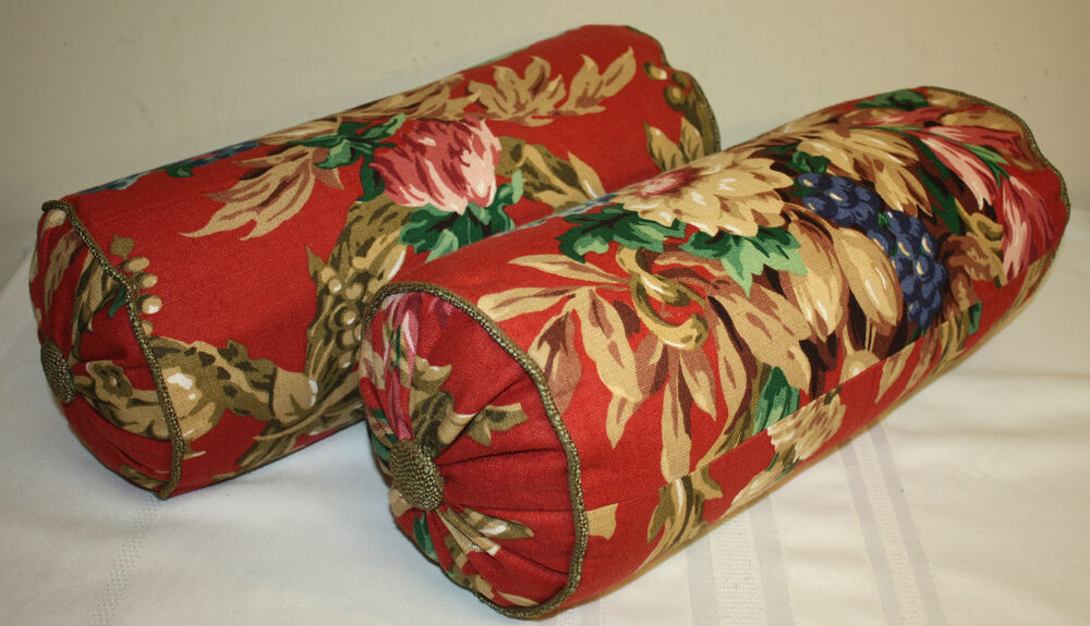 Decorative Designer Red Multi Color Floral Upholstery