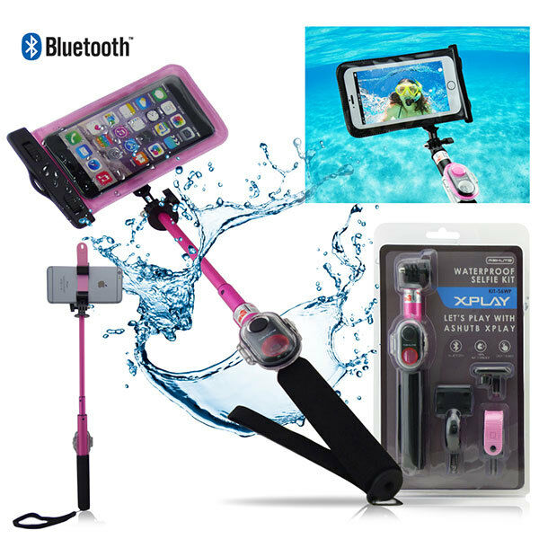 new waterproof bluetooth selfie stick kit with remote for iphone samsung lg htc ebay. Black Bedroom Furniture Sets. Home Design Ideas