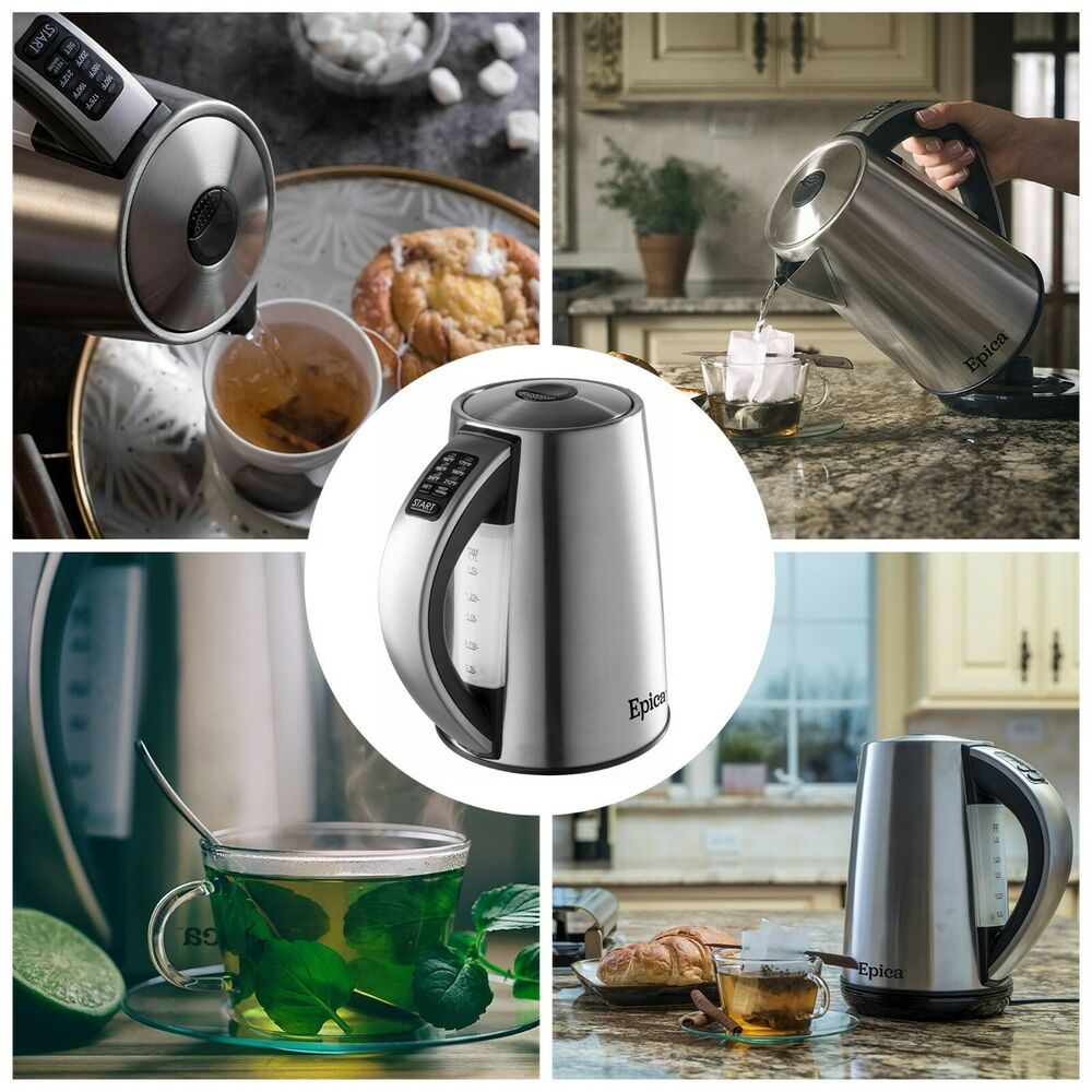 Cordless electric kettle litre stainless steel coffee