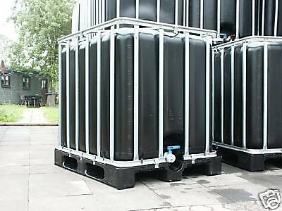ibc container tank regenwassertank 1000 liter schwarz ebay. Black Bedroom Furniture Sets. Home Design Ideas