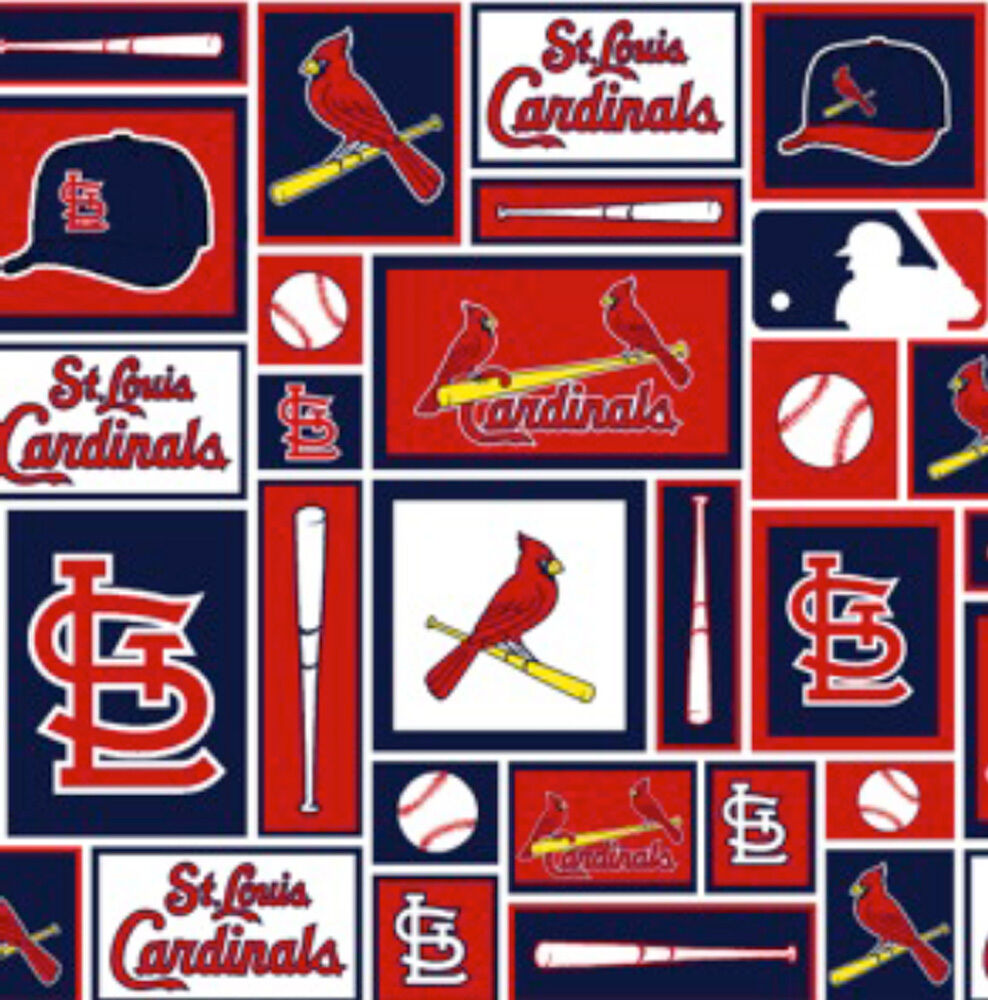 St louis cardinals mlb baseball sports team cotton fabric for Craft stores st louis