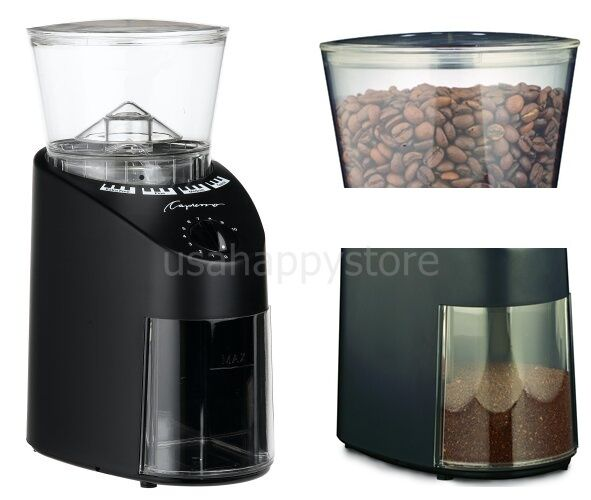 Coffee Maker Grinder Timer : Commercial Coffee Grinders Machine Maker Bean Container Timer Kitchen Appliances eBay