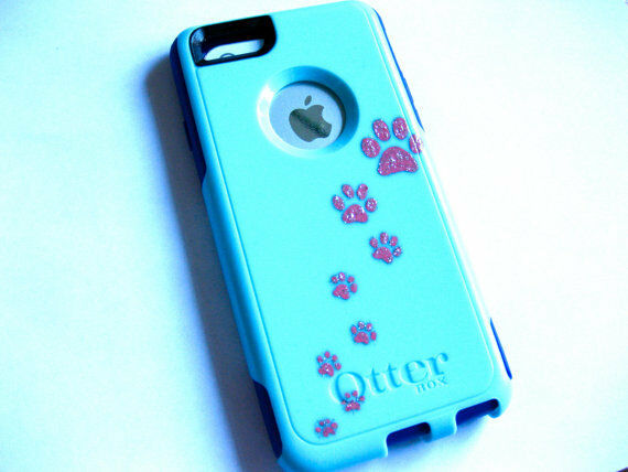 customize iphone 5c case custom otterbox commuter iphone 5c sparkly paw print 13923