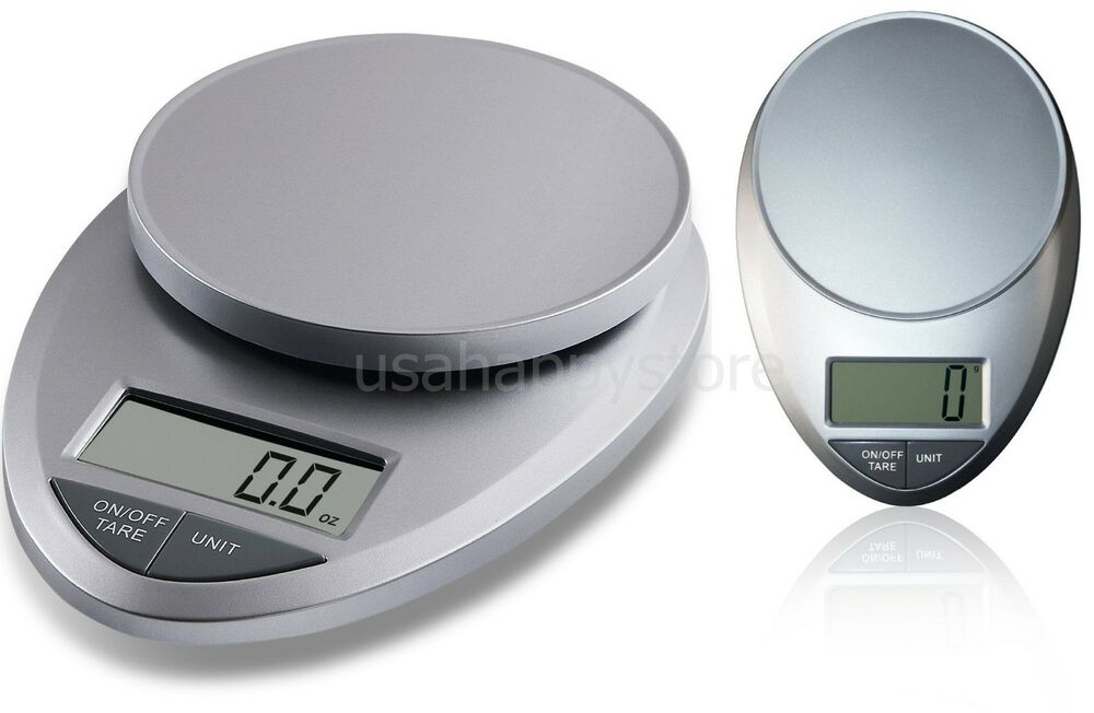 Precision pro digital kitchen food scale weight 11lbs diet for Professional food scale