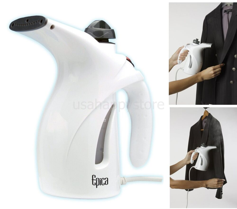 hand held fabric steamer garment portable clothes compact. Black Bedroom Furniture Sets. Home Design Ideas