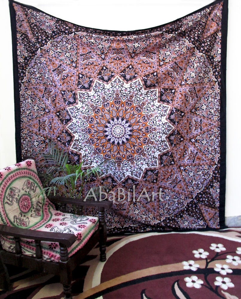 Home Decor Wall Tapestry : Psychedelic queen hippie indian tapestry star throw wall