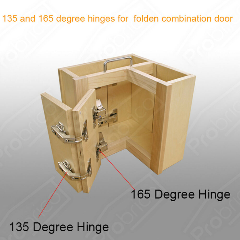165 135corner folden kitchen cabinet hidden flush door hinges combination nickel ebay. Black Bedroom Furniture Sets. Home Design Ideas