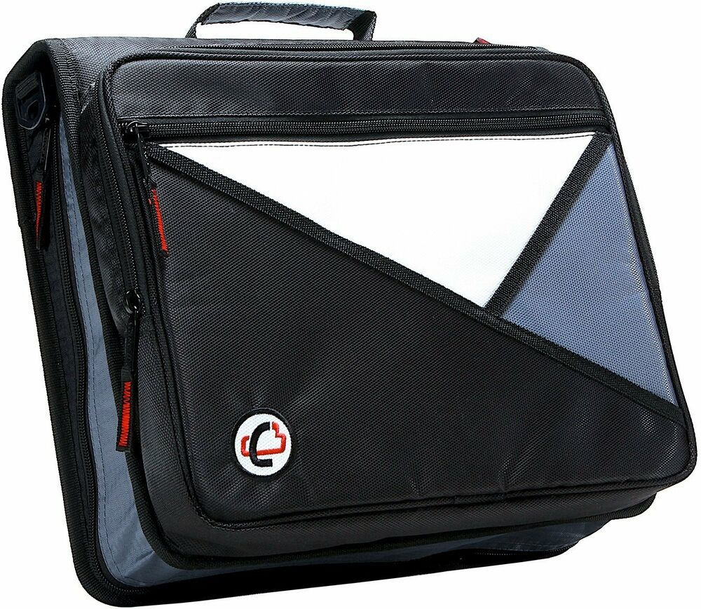 Case-it Black 2-Inch 3-Ring Zipper Binder Office School