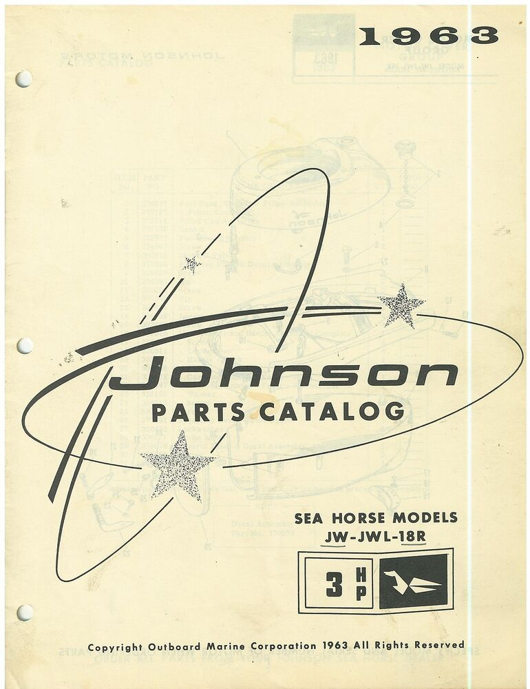 Vintage 1963 johnson 3 hp sea horse boat motor parts for Outboard motor parts online
