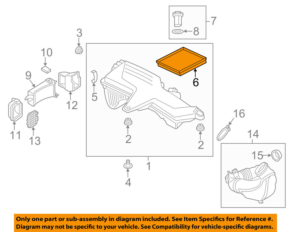 428i Bmw Engine Diagram Wiring Library 328i Oem 12 15 Air Cleaner Filter Element 13718507320 Ebay