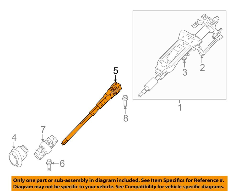 Bmw Oem 09 13 328i Xdrive Steering Column Lower Shaft 32306784845 Ebay Servotronic Wiring Diagram