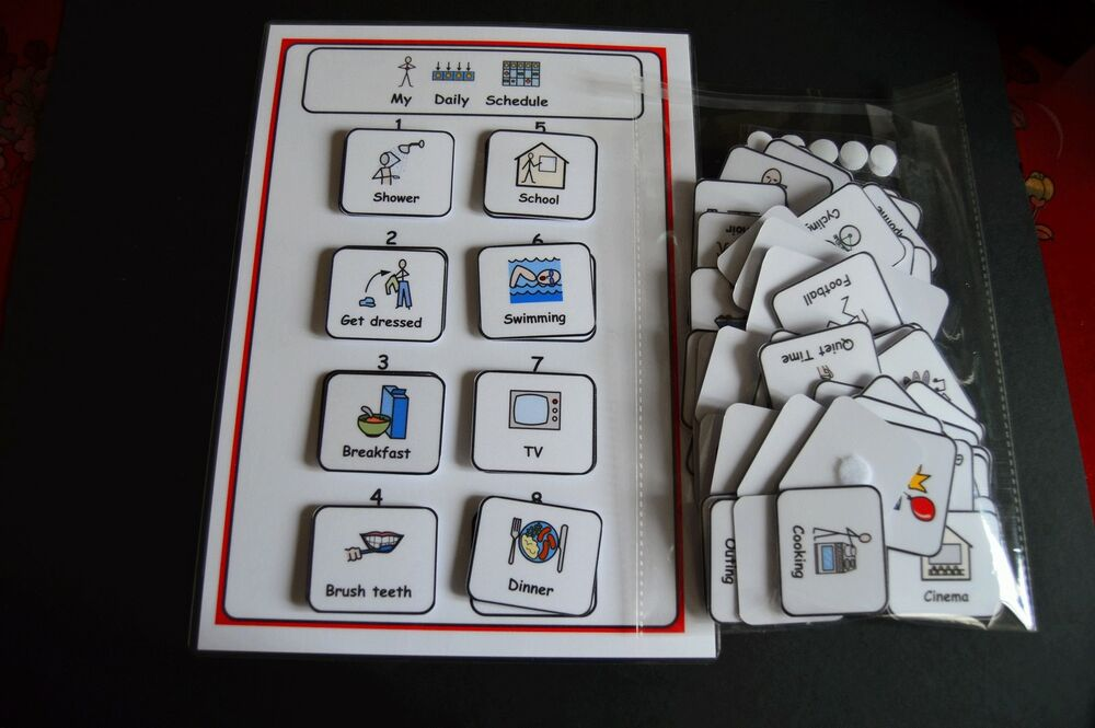Daily Schedule Amp 80 Symbols Visual Support For Autism Adhd
