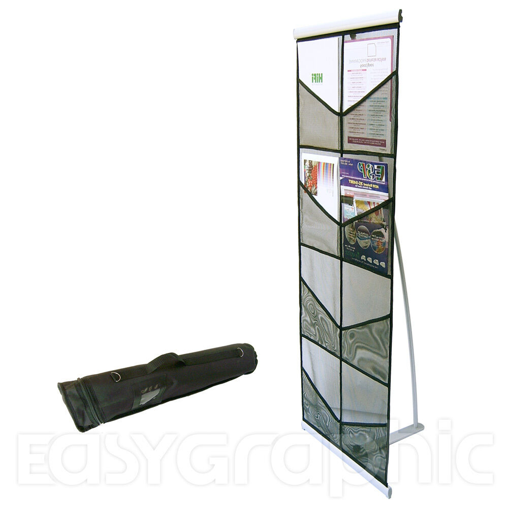 Exhibition Stand Organizer : A brochure holder literature display stand leaflet rack