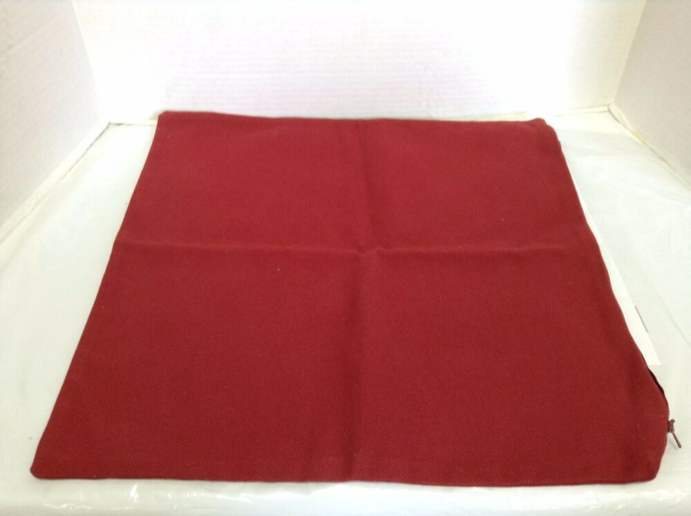 Pottery Barn PB Bed Sofa Chair Throw Pillow Cover Solid Red 18
