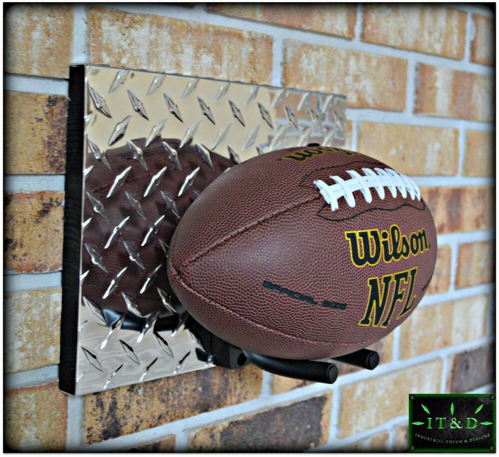 Nfl Football Full Size Wall Mount Display Holder Plaque