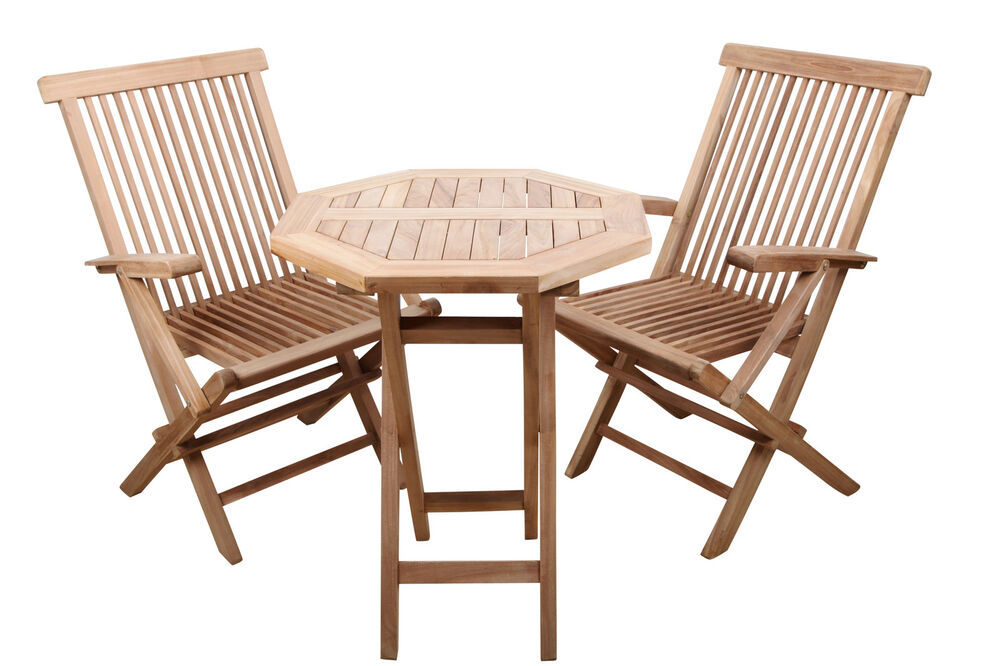 gartenm belset gartenm bel garten set teakholz teak tisch 2 st hle uvp 419 ebay. Black Bedroom Furniture Sets. Home Design Ideas