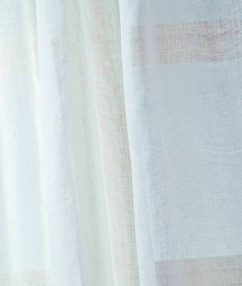 White Linen soft smooth sheer fabric by yard for dresses