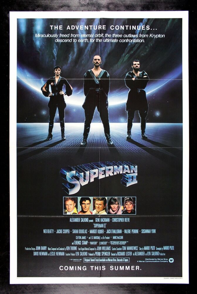 SUPERMAN 2 * CineMasterpieces ORIGINAL MOVIE POSTER 1981 ...