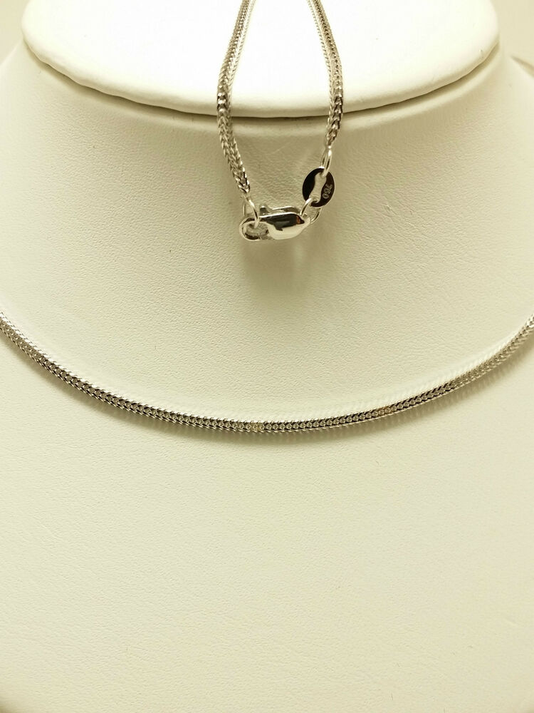 18k solid white gold wheat necklace chain grams ebay. Black Bedroom Furniture Sets. Home Design Ideas