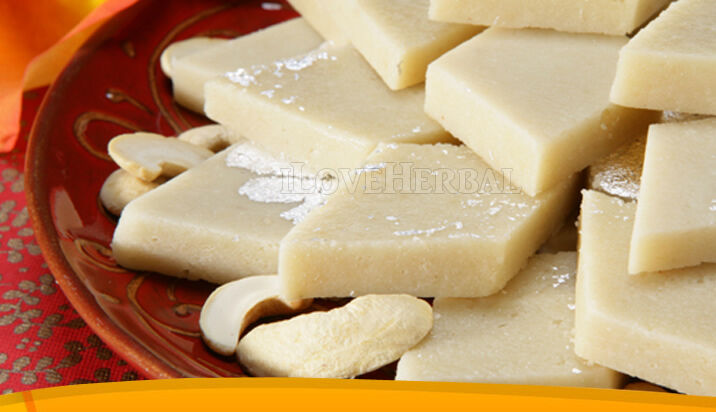 1lb Kaju Katri Katli Indian Sweet Cashew Nut Fudge Dessert ...