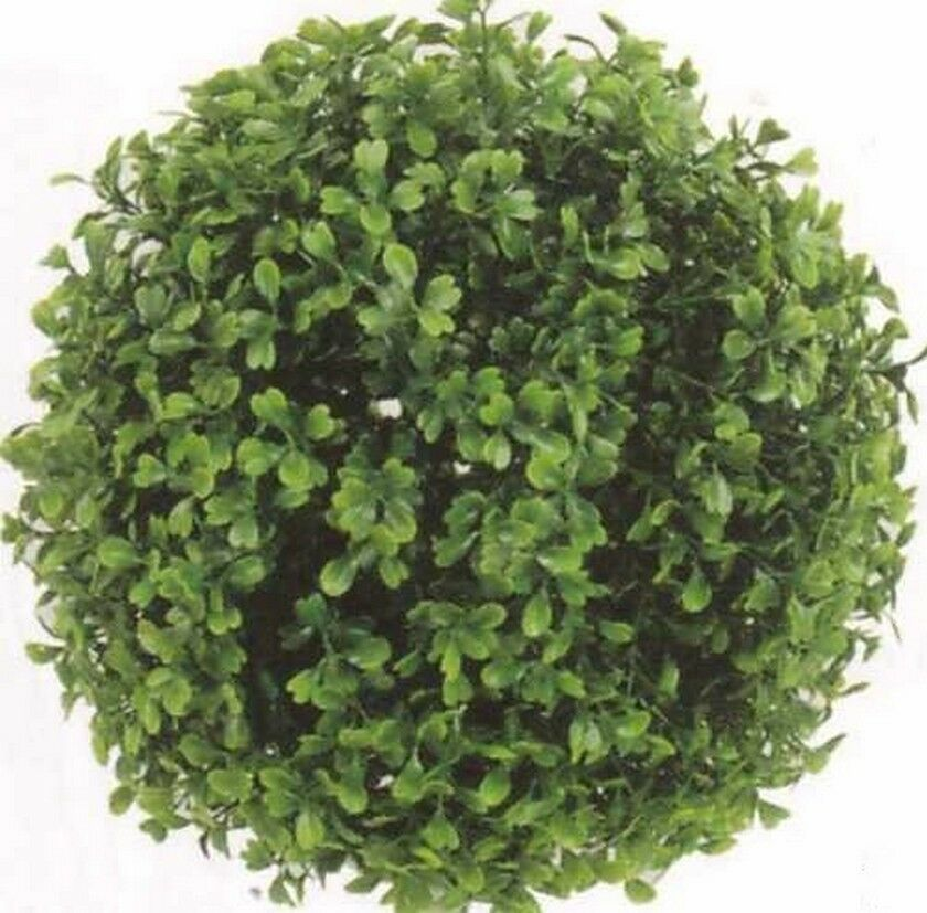 "10"" ARTIFICIAL BOXWOOD BALL IN OUTDOOR UV TOPIARY PLANT ..."