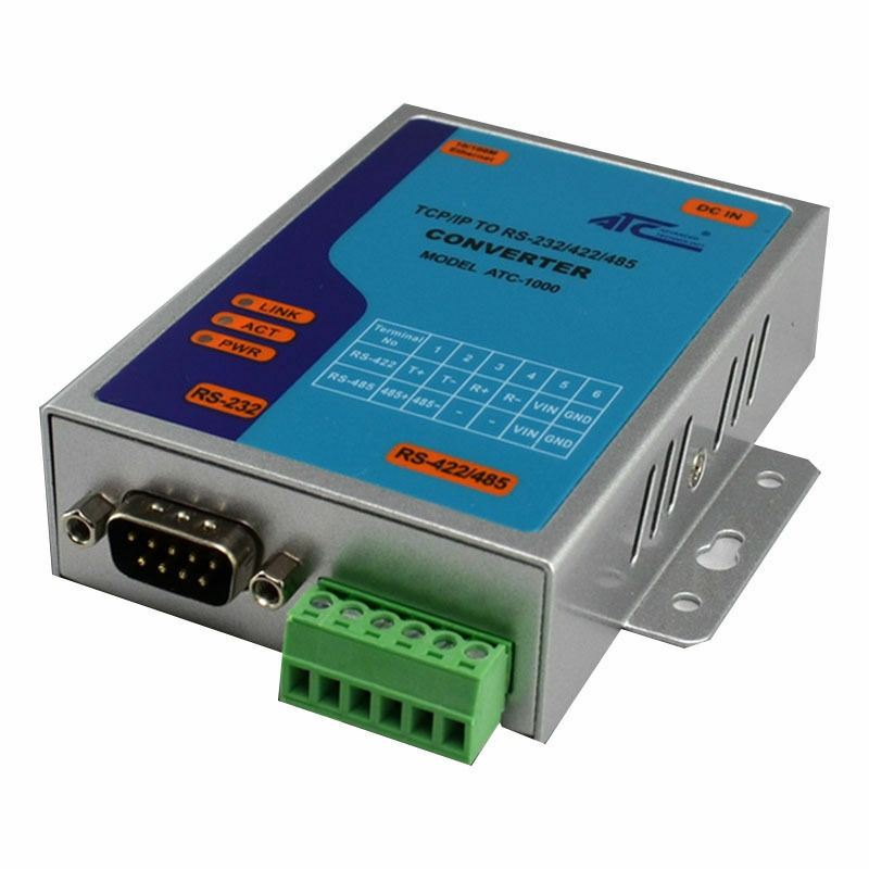 atc 1000 tcp ip ethernet to serial rs232 rs485 rs422 converter adapter adaptor ebay. Black Bedroom Furniture Sets. Home Design Ideas