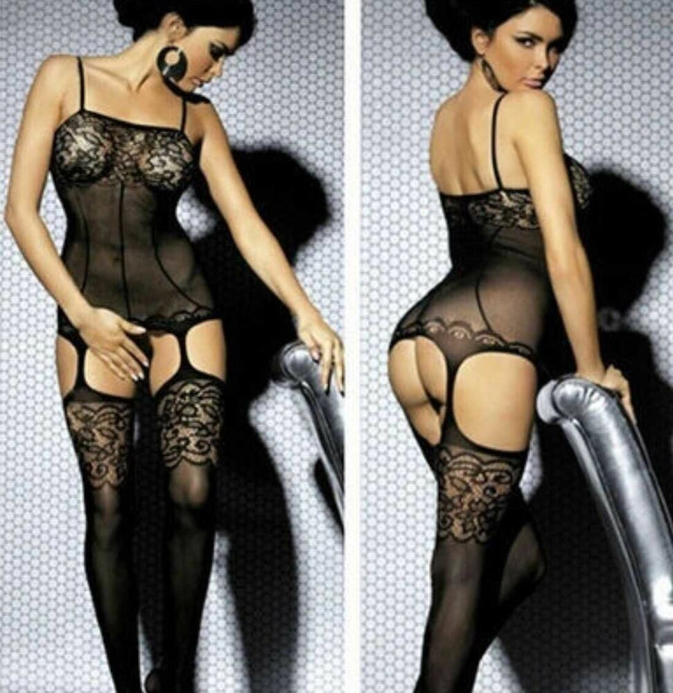 This magnificent fishnet stocking lingerie really