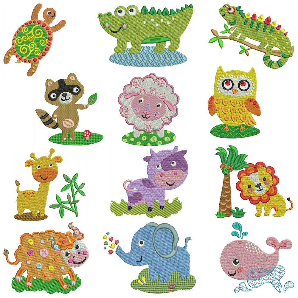 Animal adventure machine embroidery patterns