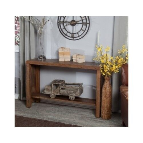 Distressed Foyer Console Table : Wood console table rustic distressed sofa accent antique