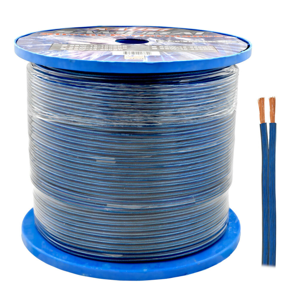 Speaker Wire In House : Blue gauge awg  feet speaker wire for home car
