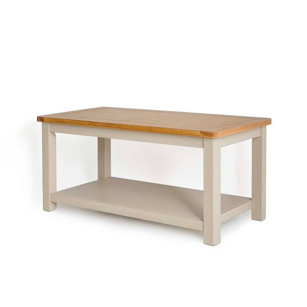 Grey Solid Wood Coffee Table: Padstow Painted Coffee Table / Solid Wood Grey Painted