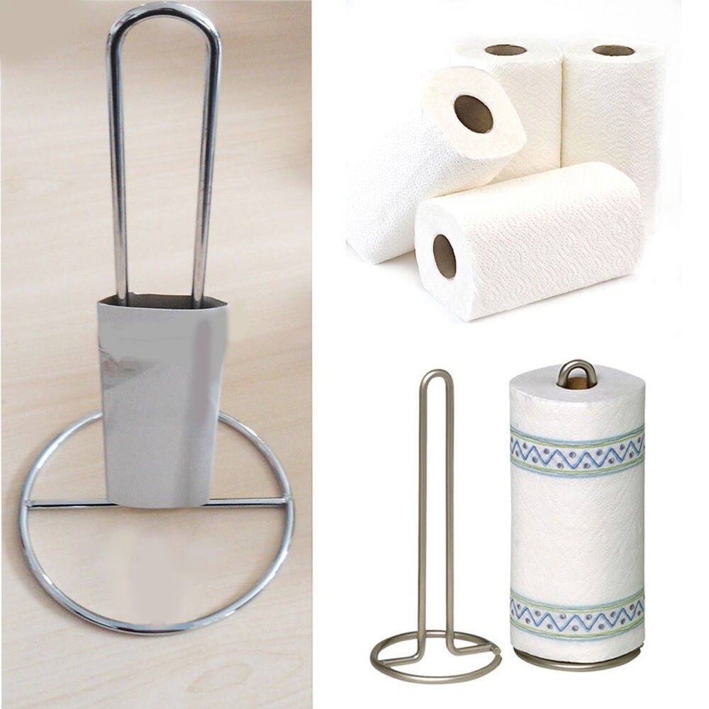Stainless Steel Roll Holder Kitchen Paper Towel Tissue