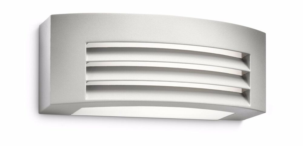 Philips 17105/93/16 Low Energy Brick Light Outdoor Wall Light In Antracit Finish eBay