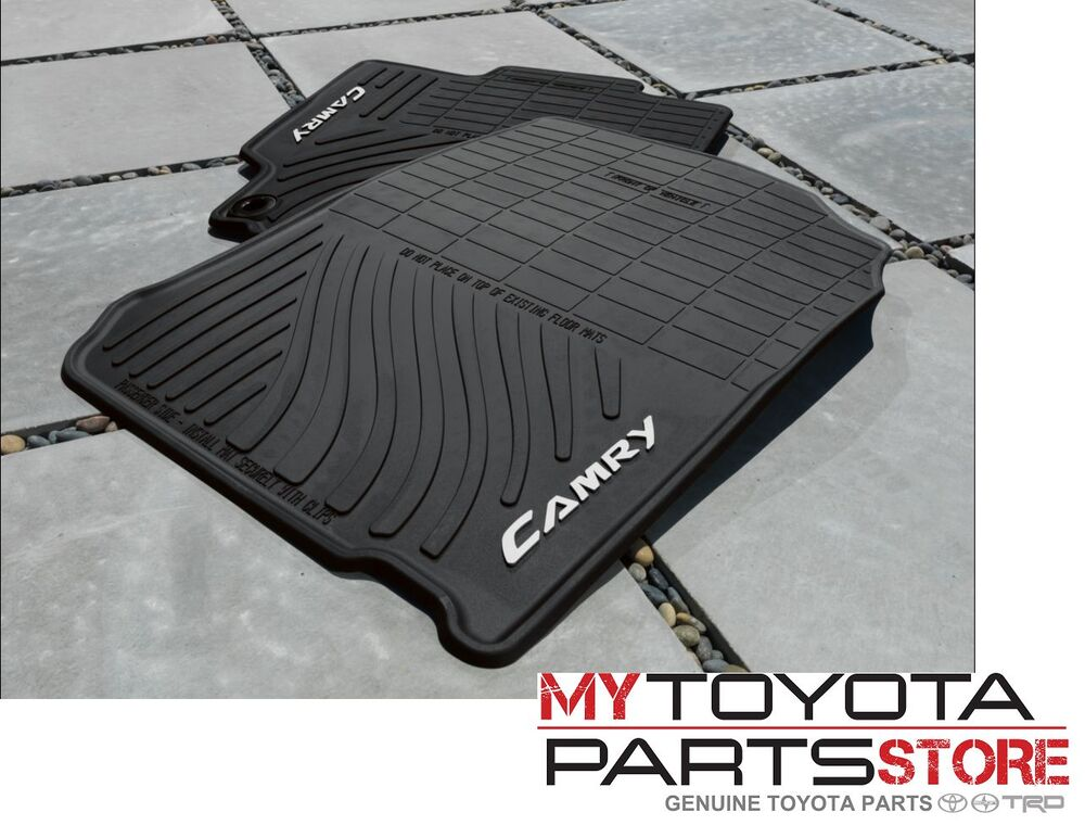 camry all weather floor mats 2015 2017 toyota camry oem. Black Bedroom Furniture Sets. Home Design Ideas