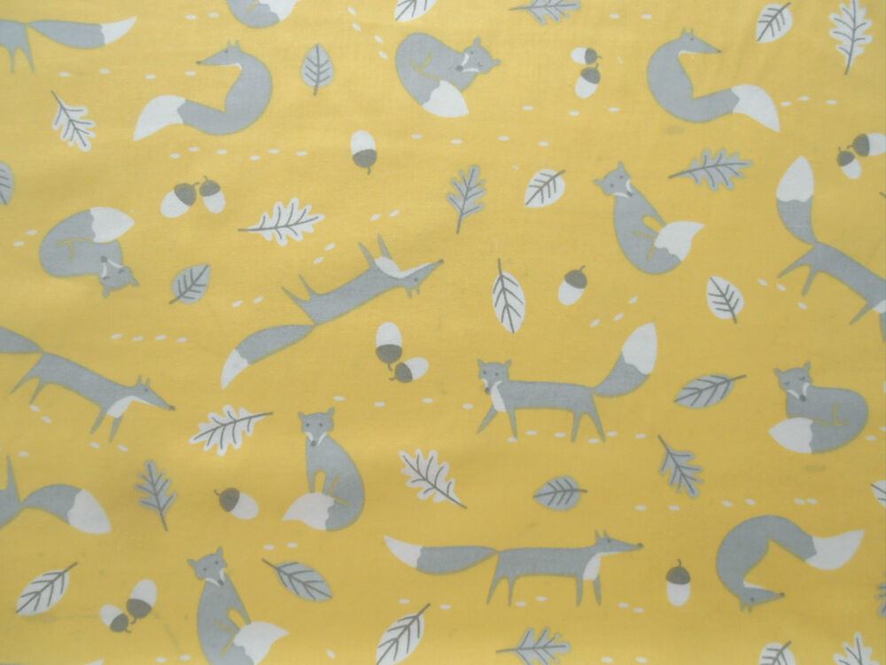 Lifestyle mr fox print children 39 s nursery cotton curtain for Childrens drapery fabric
