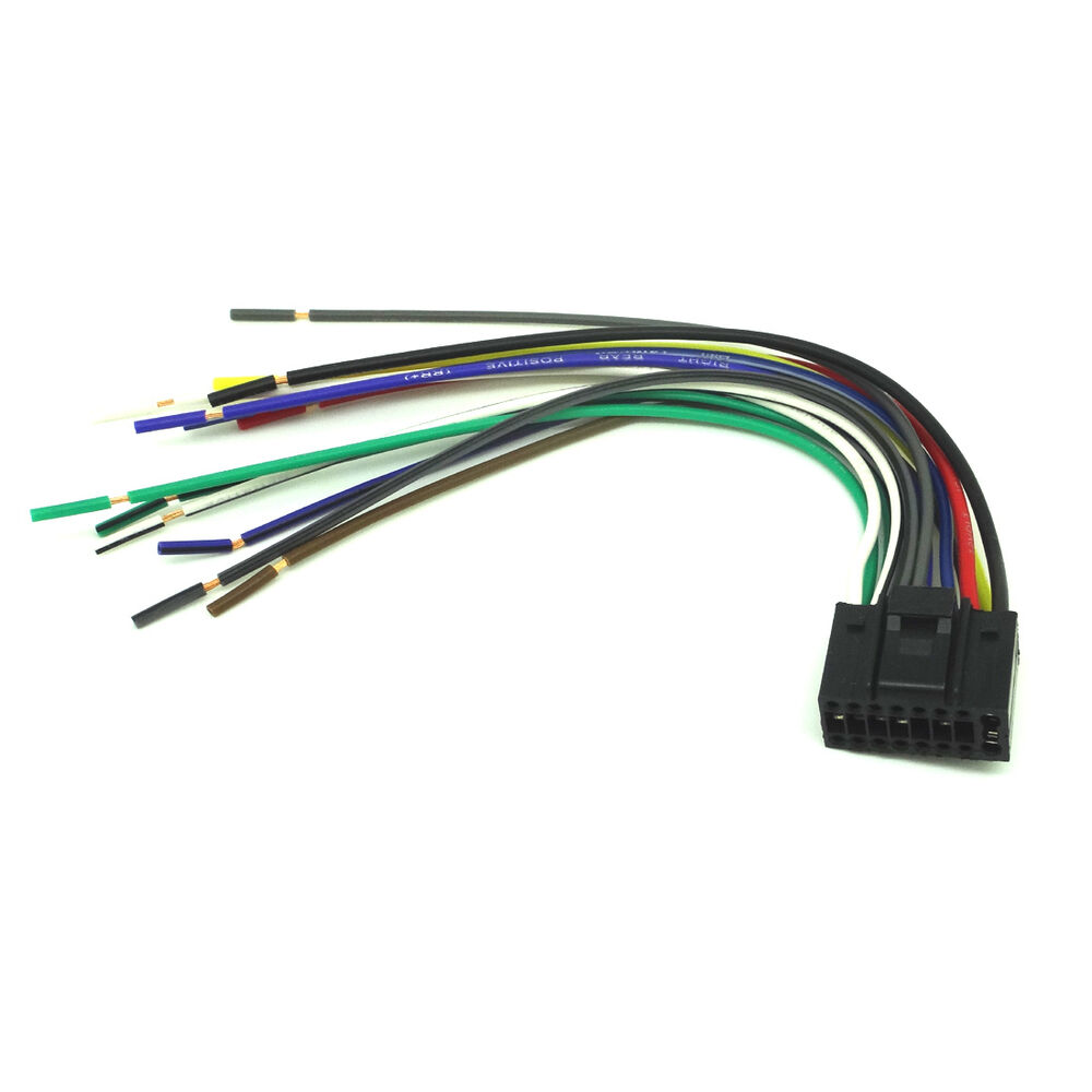 16 pin radio car audio stereo wire harness for kenwood kdc. Black Bedroom Furniture Sets. Home Design Ideas