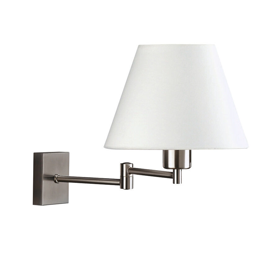 Philips Wall Lamp Shades : Swing Arm Wall Light in Matt Chrome and White Shade By Philips - 36412/17/10 eBay