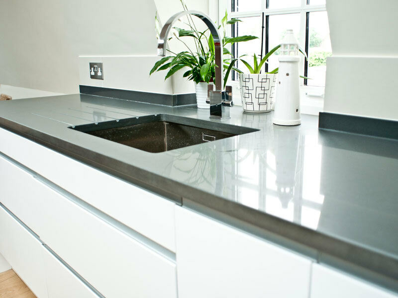 Charcoal Quartz Granite Worktops 3x Lengths Fully Fitted