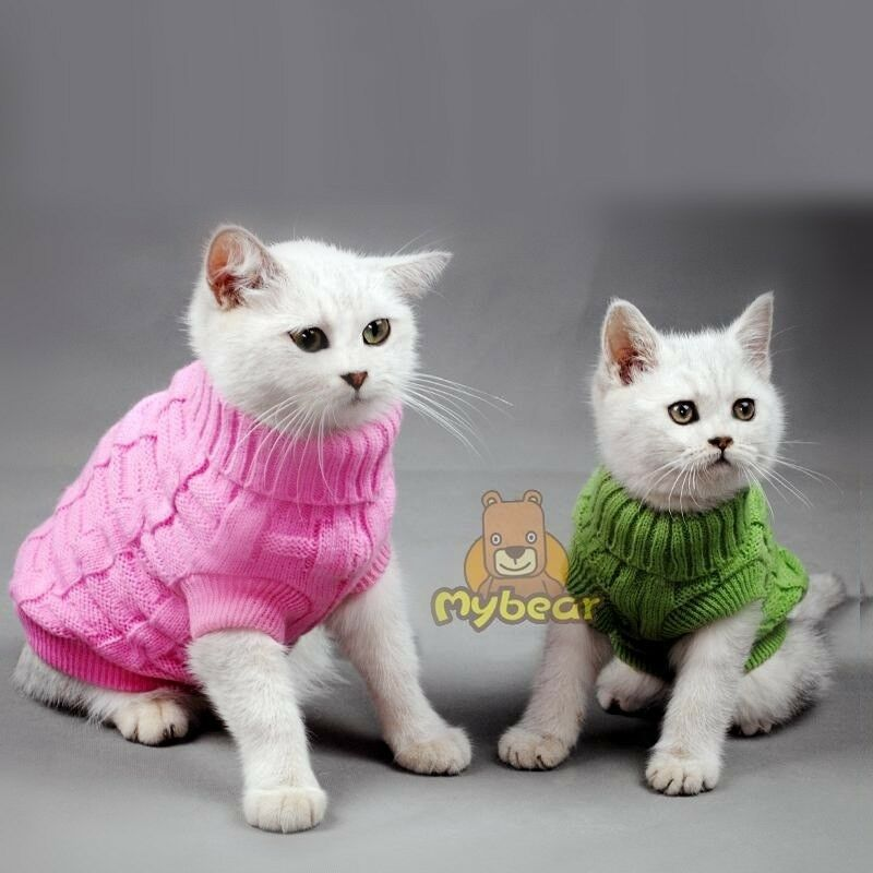 new spagetti color warm cat sweater pet jumper cat clothes