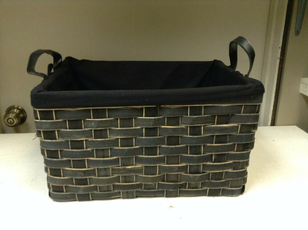 woven wicker storage organizer toys bathroom kitchen. Black Bedroom Furniture Sets. Home Design Ideas